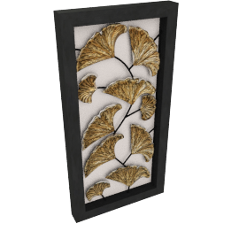 Framed Leaf Wall Decor - 48x7x94 cms