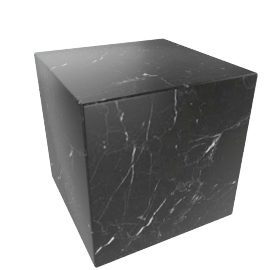 Plinth Cube Side Table, Nero Marquina