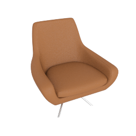 Noomi Swivel Chair , Saddle Leather