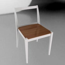 Play Side Chair - Chalk/Wood - Chalk