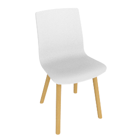 Vitra HAL Chair, White/Wood