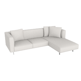 Bilsby Sectional with Right Chaise, Kalahari Leather Latte