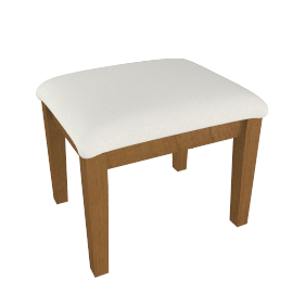 Oak Provencal Dressing Stool