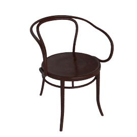 Era Round Armchair - Coffee