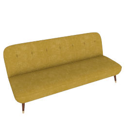 Margot Sofa Bed, Antique Gold Velvet