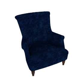 Hepburn Chair,  Como Dark ordic Blue