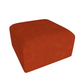 Juno modular - Ottoman, Flame Orange Velvet