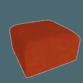 Juno modular - Ottoman, Flame Orange Velvet