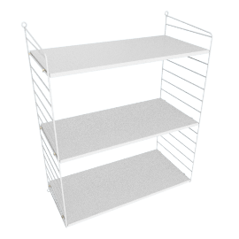 String Wall Shelving - 1 Bay - 24'', White