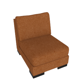 Signature 1 Seater Armless, Orange