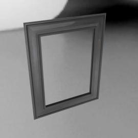 Brissi Georgia Mirror, Lead Grey, H74 x W94cm