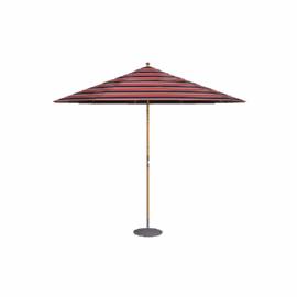 Market Parasol, 2.75m, Flame Stripe