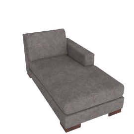 Signature Chaise Right, Grey Brown