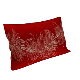 Sanderson Feather Cushion, Red