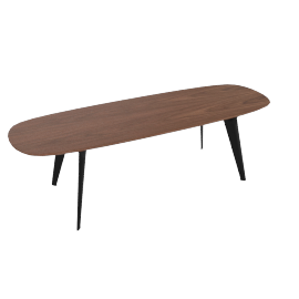 Solapa Slim High Table, Walnut
