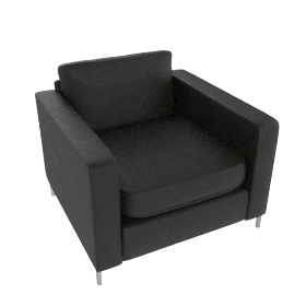 Maestro Leather Chair, Black