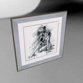 Joanne Boon Thomas- Figurative Study 1 Framed Print, 47 x 47cm