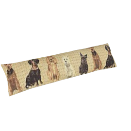 Dogs Draught Excluder, Beige