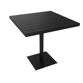 Eos Cafe Table, Black