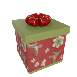 Villeroy & Boch Christmas Gift Box Decoration, Square Forest