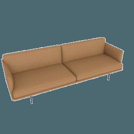 Outline Sofa, Prescott Leather - Saddle