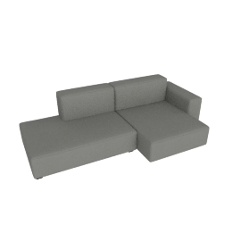 Mags Soft Low Sectional with Right Chaise, Linara - Fog