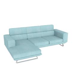 Lazio Right Corner 3-seater Sofa