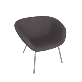 Pot Lounge Chair, Dark Grey