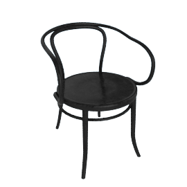 Era Round Armchair - Black
