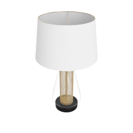 Golden 3-Pin Wick with Table Lamp, Gold
