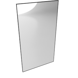 Mondrian Mirror 44'' x 80'', Black