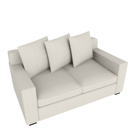 "Muse Sofa - 72"" (Fabric B) - Natural"