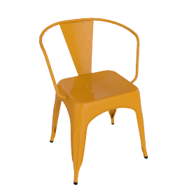 Pair of Legend Café Armchairs, Orange