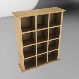 CD Storage Unit, Rubberwood, 144 CDs