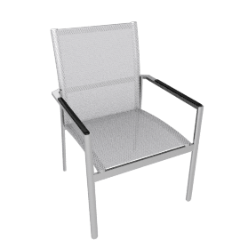Gloster Azore Stacking Chair with Arms, Frost / White