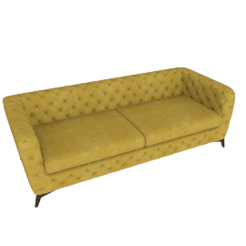 Sloan 3 Seater Sofa, Antique Gold Velvet