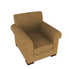 Ashley Chair, Gold