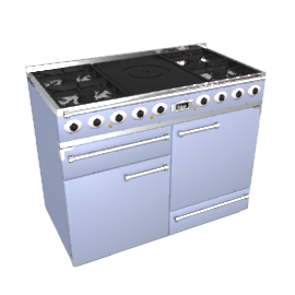 Falcon 1092 Deluxe CT Dual Fuel Range Cooker, China Blue