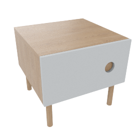 Spot 1 door Bedside Table, Pale blue