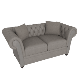 Ascot 2 Seater Oyster Silver