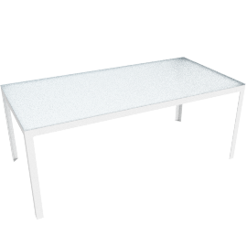 Min Table, Large with Glass Top - Glass