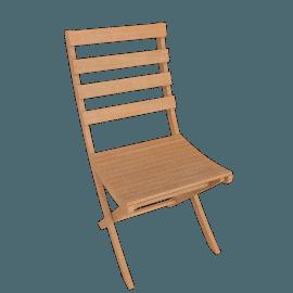 Silhouette Folding Garden Side Chairs