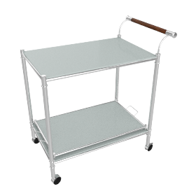 Lasky Serving Trolley, White/Chrm