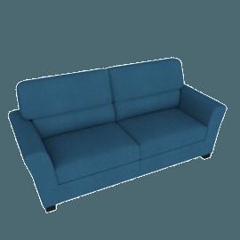 Lexi 3-Seater Sofa, Blue