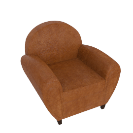 Jazz Club Chair, Cognac