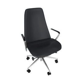 Taper Chair, Aluminum/Black