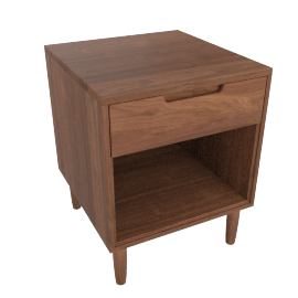 Raleigh Bedside Table, Walnut