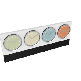 Meridian World Wall Clock, Multicolour