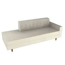 Bantam Studio Sofa, Right - Vienna Leather.Ivory