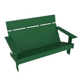 Lollygagger Bench, British Green